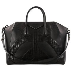 Givenchy Antigona Bag Leather and Crocodile Embossed Large
