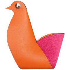 Hermès Clickazoo La Colombe Dove Foldable Leather Animal