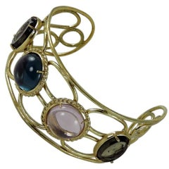 Bronze bracelet with  Murano Glass inserts