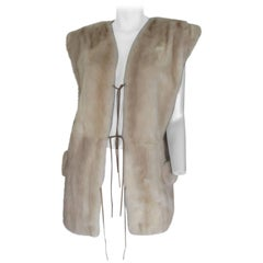 sleeveless mink fur vest