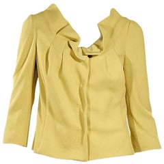 Fendi Yellow Ruffle-Trimmed Jacket