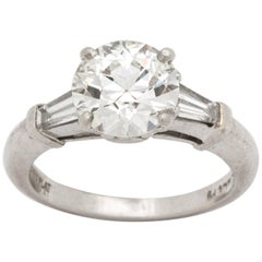 Art Deco 1.98 ct  GIA VS2 I Diamond and Platinum Engagement Ring