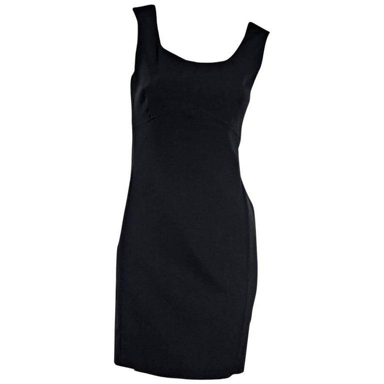 Prada Black Mini Sheath Dress