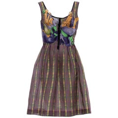 Prada Runway Silk James Jean Fairy Print Sleeveless A - Line Dress, Spring 2008