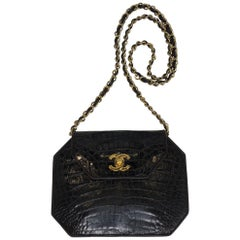 Chanel crocodile bag, late 1980s