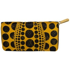 Yayoi Kusama clutch zippy wallet