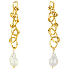 Giulia Barela Knot Gold Plated Bronze Earrings