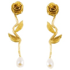Giulia Barela Seeds Gold Plated Bronze Earrings