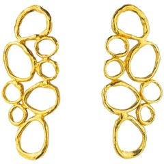 Giulia Barela Bubbles Gold Plated Bronze Earrings