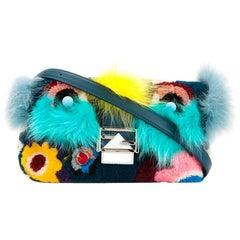 Fendi Monster Shearling and Fox Fur Baguette Bag