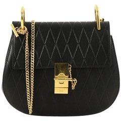 Chloe Drew Crossbody Bag Embossed Leather Small