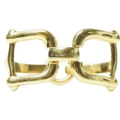 Celine Goldtone Horsebit Bracelet
