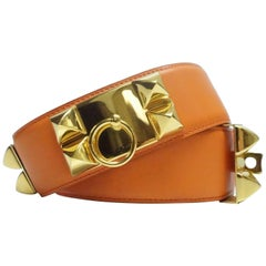 Hermes Orange Collier De Chien Belt GHW, 1997