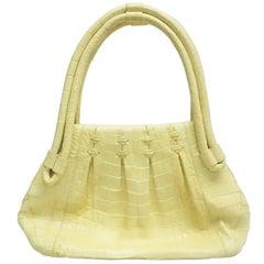 Nancy Gonzalez Yellow Crocodile Shoulder Handbag