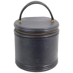 Louis Vuitton Cannes Black Epi Leather Vanity case