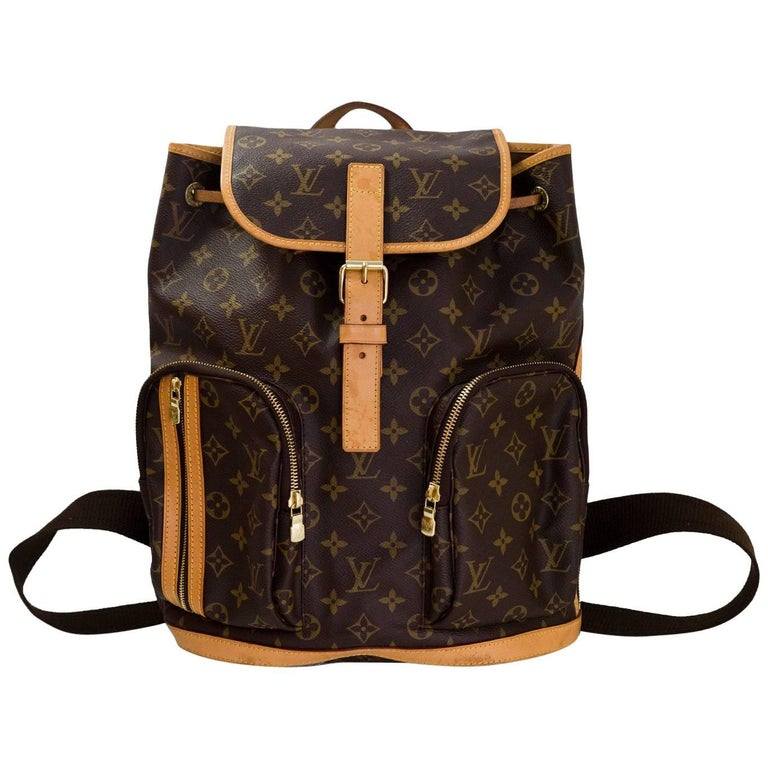 Louis Vuitton Monogram Bosphore Backpack Bag with Dust Bag