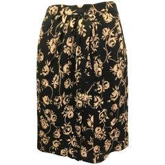 Ungaro Solo Donna Black Flower Skirt