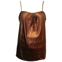 1980s Umi Collections by Anne Crimmins Metallic Bronze Tank Top