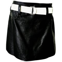 Courreges Mini Skirt - 1980's - Small