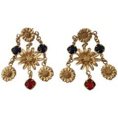 Patrizia Daliana Bronze chandelier earrings