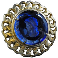 Bronze and Murano glass fashion round ring by Patrizia Daliana