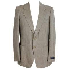 Burberry Prorsum Blazer Beige Vintage Wool  Silk Jacket, 1980s