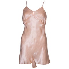 Vintage Peach Satin Cami Nickers
