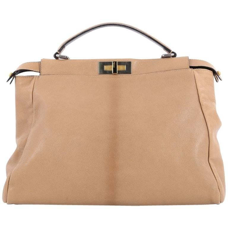 Fendi Peekaboo Handbag Leather Large