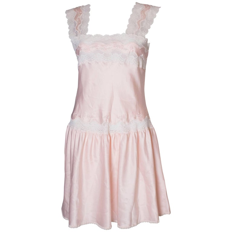 Vintage Pink Nightdress or Dress For Sale