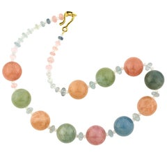 "Gemjunky ""Candy Color"" Natural Beryl, Morganite & Aquamarine 20"" Necklace"