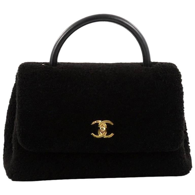 421234f1d59a Chanel Coco Top Handle Bag Shearling Medium at 1stdibs