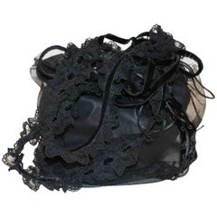 Ives Saint Laurent  Leather And Lace Bag