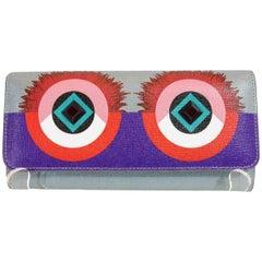 Fendi Monster Eyes Continental Flap Wallet