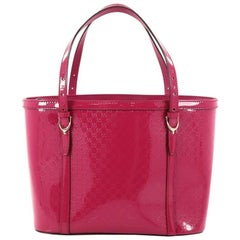 Gucci Nice Tote Patent Microguccissima Leather Small