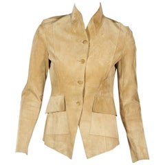 Tan Gucci Suede Jacket
