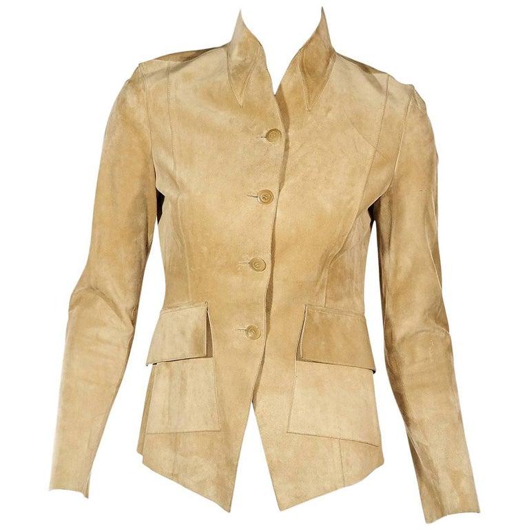 Tan Gucci Suede Jacket