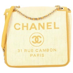 Chanel Deauville Messenger Bag Canvas Small