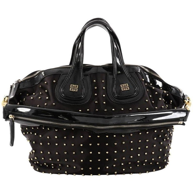 776902793669 Givenchy Nightingale Satchel Studded Nylon Medium at 1stdibs