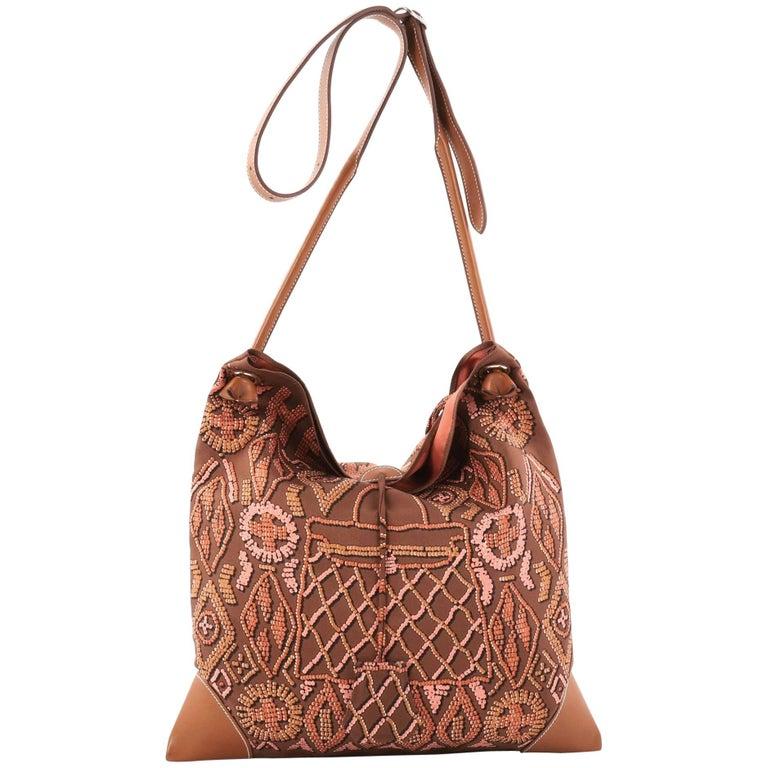 f71ae9092025 Hermes Silky City Handbag Printed Silk and Leather PM at 1stdibs