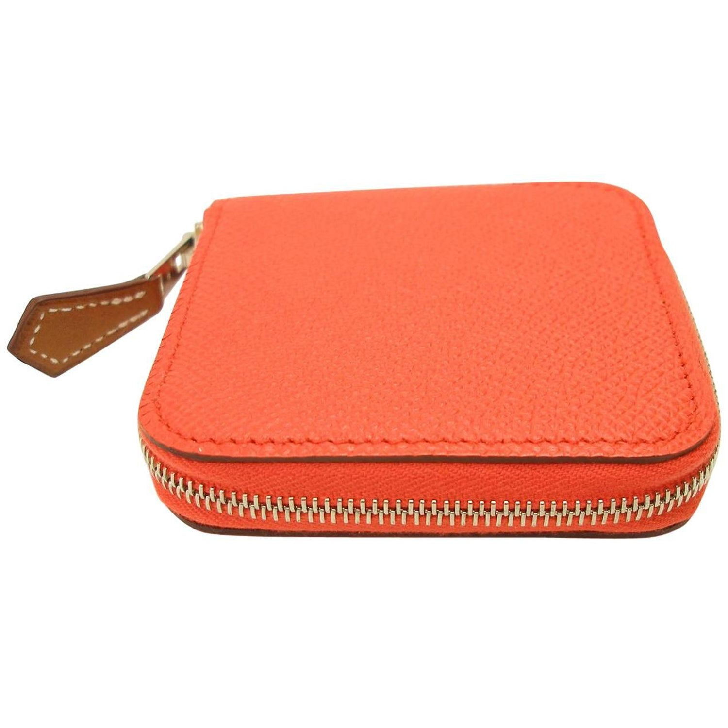 f964b3e9d3 Small Change Coin Purse Hermés silk in Etriers 654 Orange Poppy   Brand New  at 1stdibs