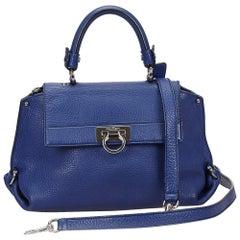 Ferragamo Blue Mini Sofia Satchel