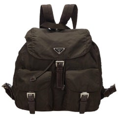 Prada Brown Nylon Backpack