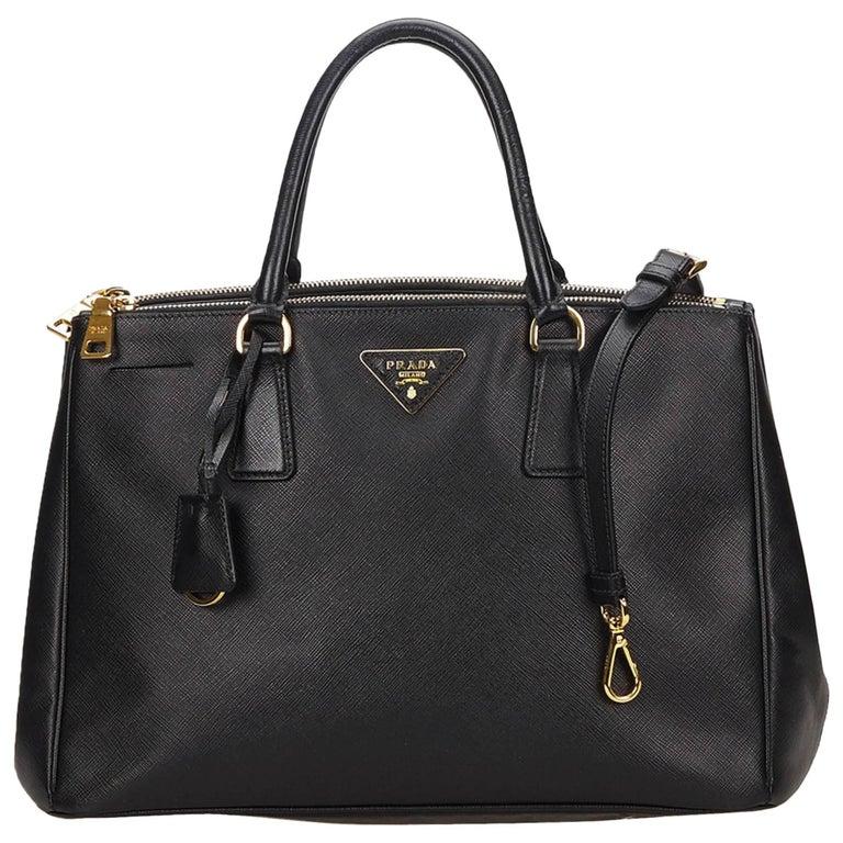 Prada Black Saffiano Galleria Bag