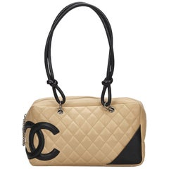 Chanel Beige Cambon Ligne Shoulder Bag