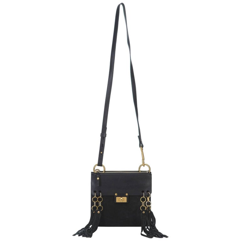 Chloe Black Suede Jane Bag
