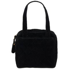 Chanel BlackMatelasse Cotton Handbag