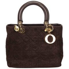 DiorDark Brown Suede Lady Dior