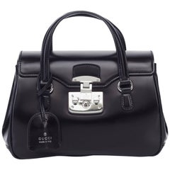 Gucci Black Leather Lady Lock Bag