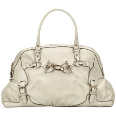 Gucci White Leather Handbag
