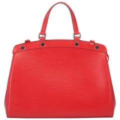 Louis Vuitton Red Epi Brea MM Bag